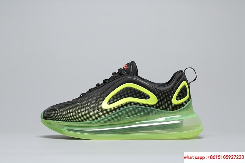 Men's Nike Air Max 720 Running Shoes Black/Bright Crimson/Volt AO2924 008 1