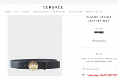 versace CLASSIC MEDUSA LEATHER BELT  soft calf leather versace belt