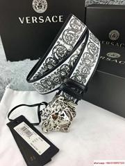 VERCE BAROCCO PRINT PALAZZO BELT mooth saffiano leather belt versace belt Medusa