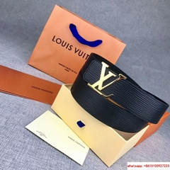 LV INITIALES 40MM Epi calf leather lv belts LV signature buckle