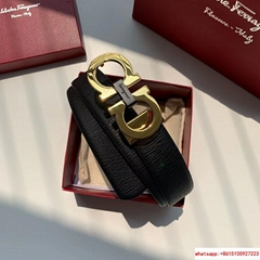 Ferragamo Epi real leather black belt Ferragamo belt