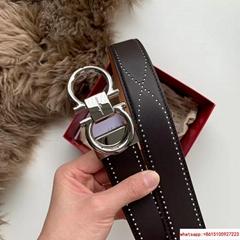 Ferragamo FIXED GANCINI BELTin calfskin cowhide leather Ferragamo belt