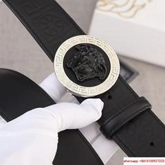 Versace MEDUSA GRECA LEATHER BELTSupple calf leather belt versace belt