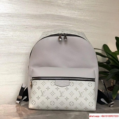 Louis Vuitton DISCOVERY BACKPACK PM white aiga cowhide leather lv backpack