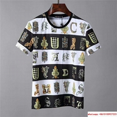 Gianni Versace Jeans Brand New T-shirt 100% Cotton Tee Camiseta Black & White
