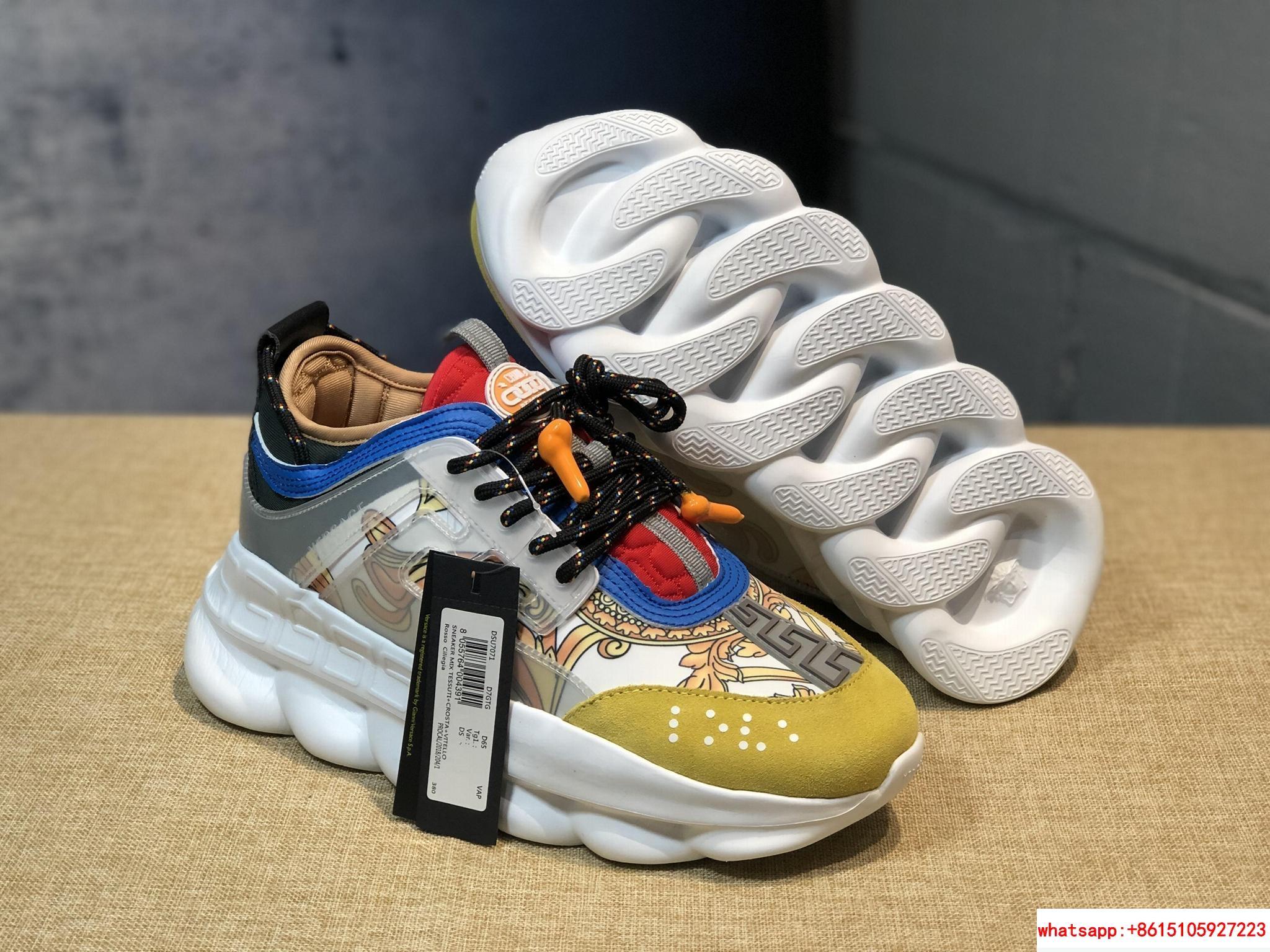 Versace Men Chain Reaction Tribute Sneakers