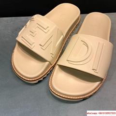 fendi SLIDES Pink rubber slides fendi sandal slides