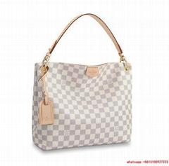 Louis Vuitton graceful mm monogram handbags LV leather tote bags
