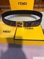Fendi Brown fabric belt fendi fendi Multicolor fabric belt fendi belt