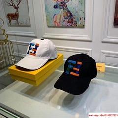 New Fendi FF Logos Hat Baseball Ajustable Cap fendi hat fendi cap