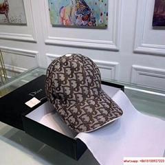 Dior Embroidery Hat Baseball Adjustable Black Cap for Men or Women dior hat
