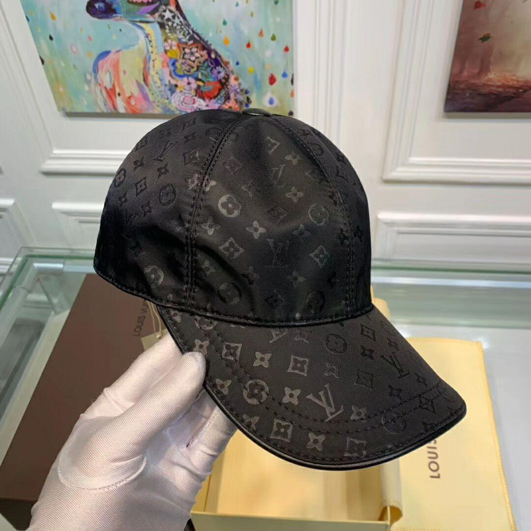 New Black LV019 Hat Baseball Cap Adjustable Hat Unisex lv hat 19