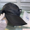 Prada Black Baseball Hat Cap Adjustable
