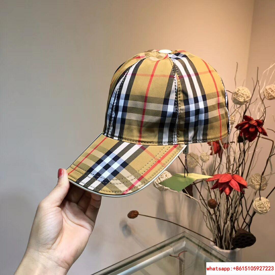 New Burberry Baseball Hat Adjustable Cap Unisex Brown burberry hats burberry cap 2