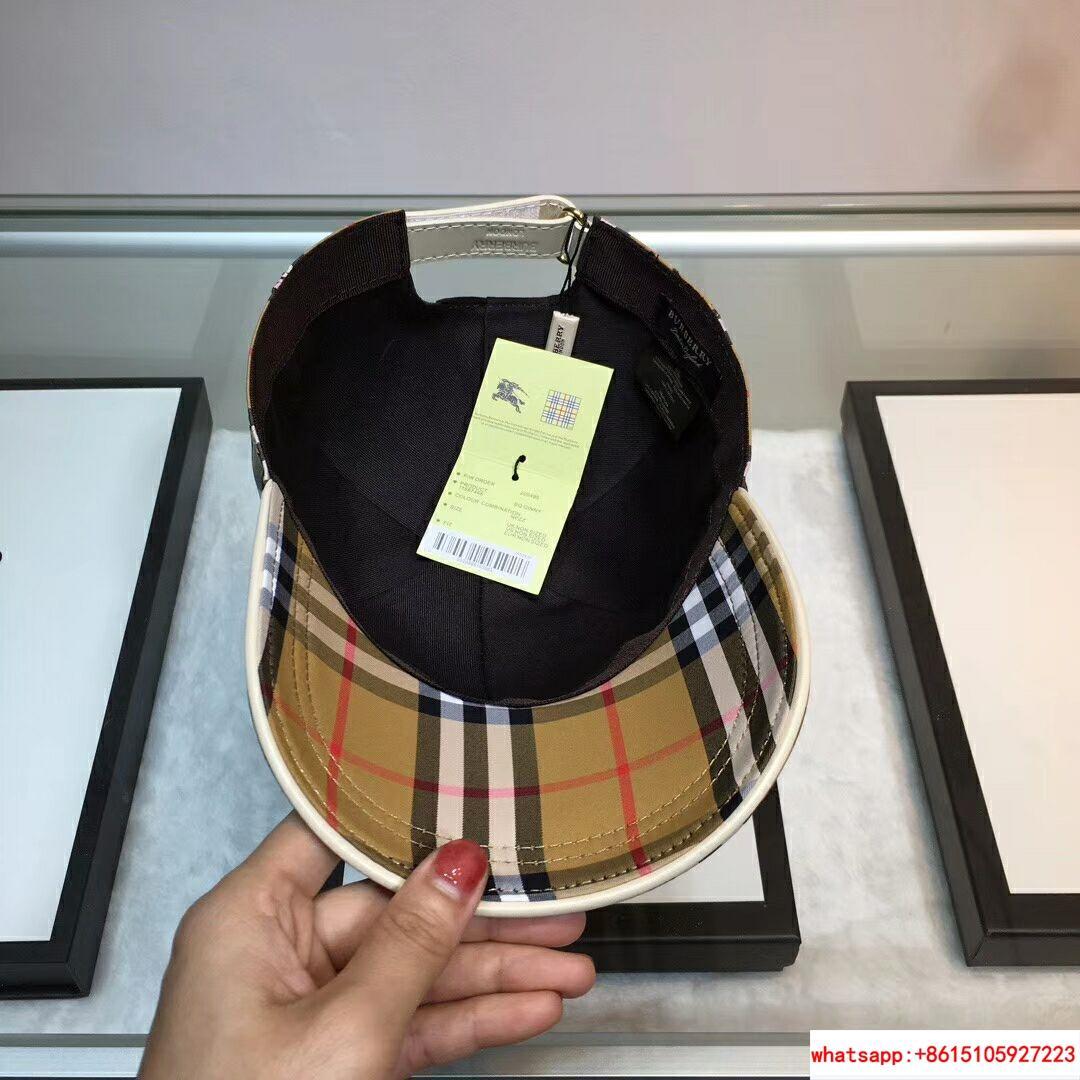 New Burberry Baseball Hat Adjustable Cap Unisex Brown burberry hats burberry cap 3