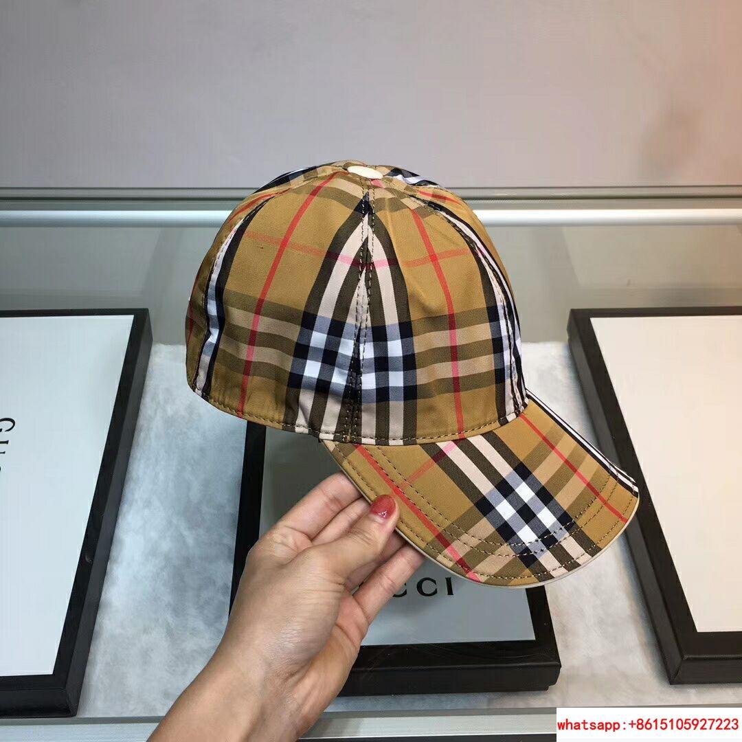 New Burberry Baseball Hat Adjustable Cap Unisex Brown burberry hats burberry cap 1