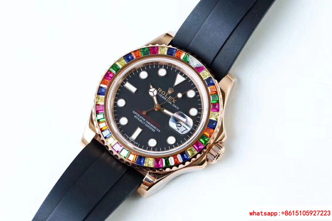 NEW Rolex Yacht-Master 40 18k Rose Gold Rainbow Watch Box/Papers 116695SATS 2