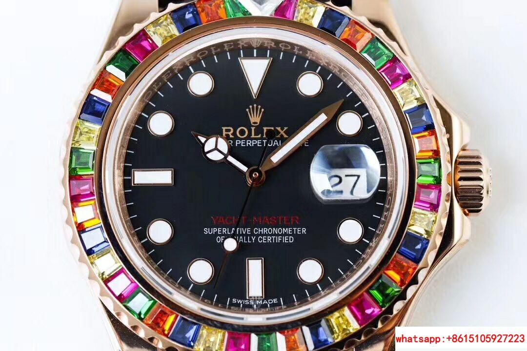 NEW Rolex Yacht-Master 40 18k Rose Gold Rainbow Watch Box/Papers 116695SATS 3