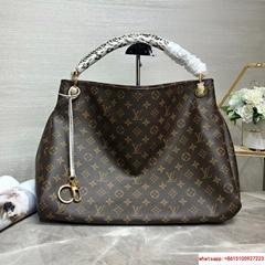 lv ARTSY MM monogram handbags with snake handle lv handbags