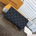 lv Brazza wallet elegant Damier Cobalt canvas lv wallet lv men long wallet