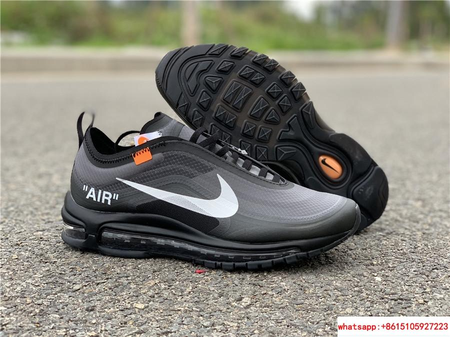 Nike Air Max 97 x Off White black running shoes air max shoes 1