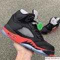 Nike Air Jordan 5 Retro V AJ5 Satin Bred Black Red Men Shoes Sneakers 136027 006 3