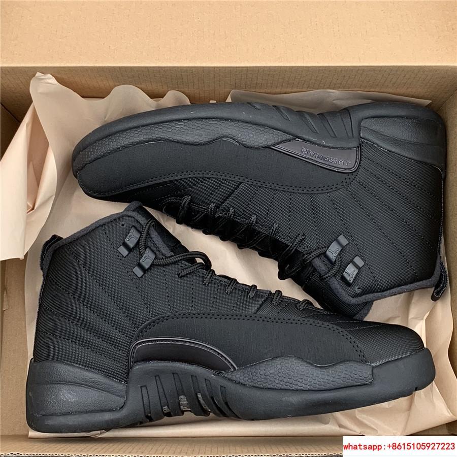 new concept 862bd bb76f Air Jordan 12 Winterized black basketball shoes BQ6851-001 ...