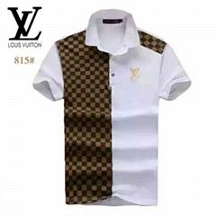 Newest LV polo %100 cotton lv men tshirt lv tshirt with free shipping