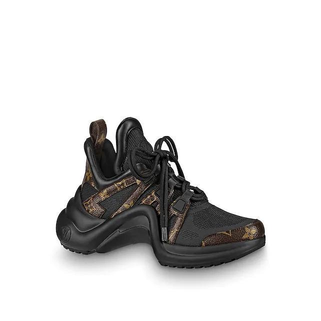 archlight sneaker Patent Monogram canvas             black women shoes     1