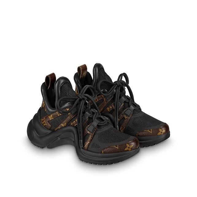 archlight sneaker Patent Monogram canvas             black women shoes     4