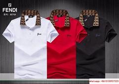 hotsale newest fendi polo %100 cotton fendi tshirt