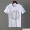 versaceMen Shirt Suit Short Sleeve Summer Youth Casual Solid T-shirt Shorts 2Pcs