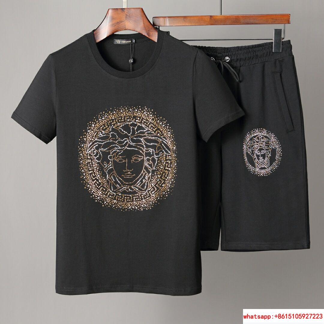 Men Shirt Suit Short Sleeve Summer Youth Casual Solid T-shirt Shorts 2Pcs 1