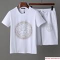 Men Shirt Suit Short Sleeve Summer Youth Casual Solid T-shirt Shorts 2Pcs 3