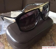 hotsale lv sunglass lv black sunglass gold frame with complete packing  (Hot Product - 1*)