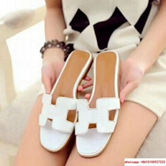 """hermes oran sandal in Box calfskin with iconic """"H"""" cut-out"""