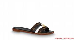 lv lock It Flat Mule lv slide sandals lv women flat of Monogram canvas