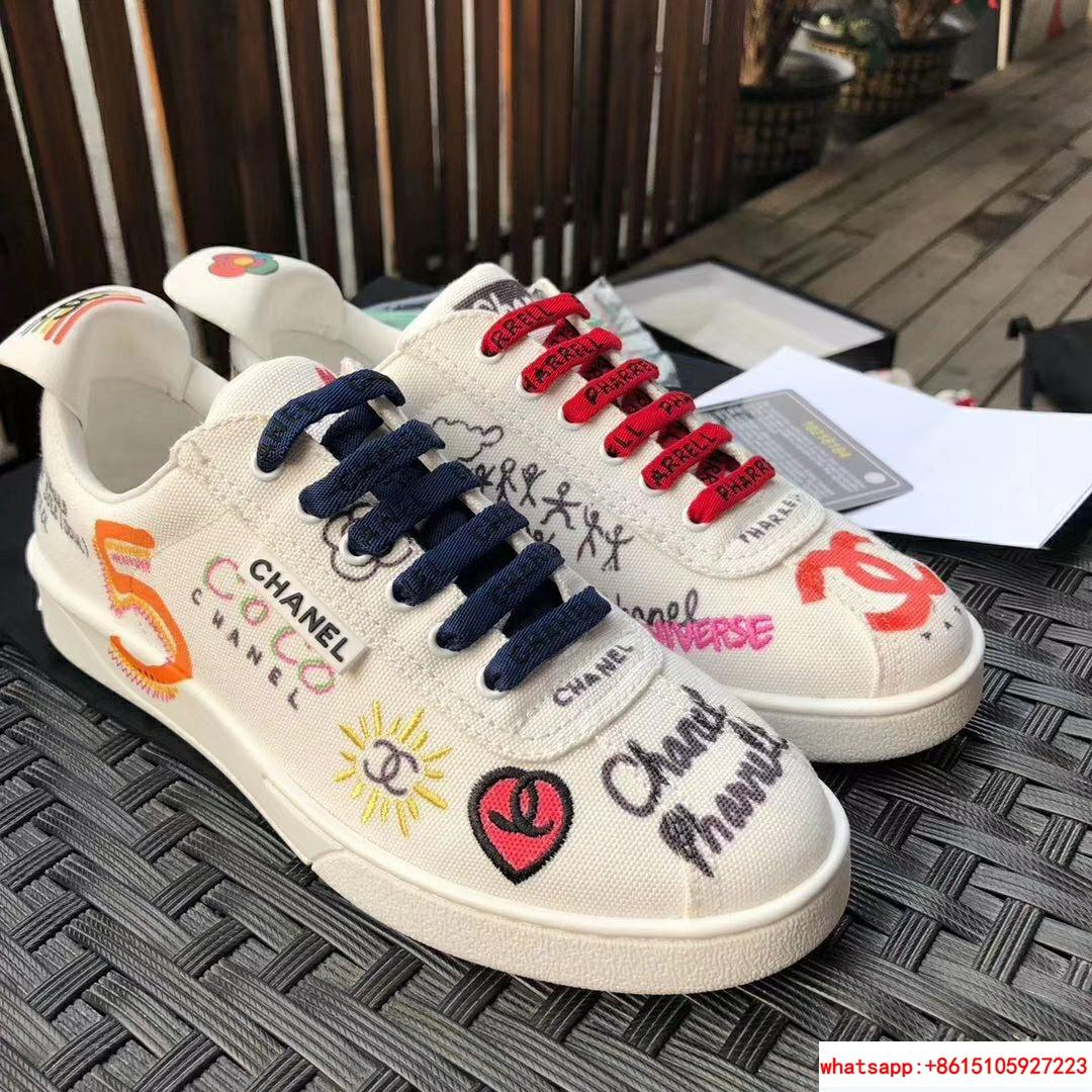 Pharrell Williams CC Logo Canvas Graffiti Low top  Sneakers Capsule Collection  1