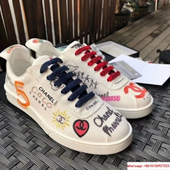 Pharrell Williams CC Logo Canvas Graffiti Low top  Sneakers Capsule Collection