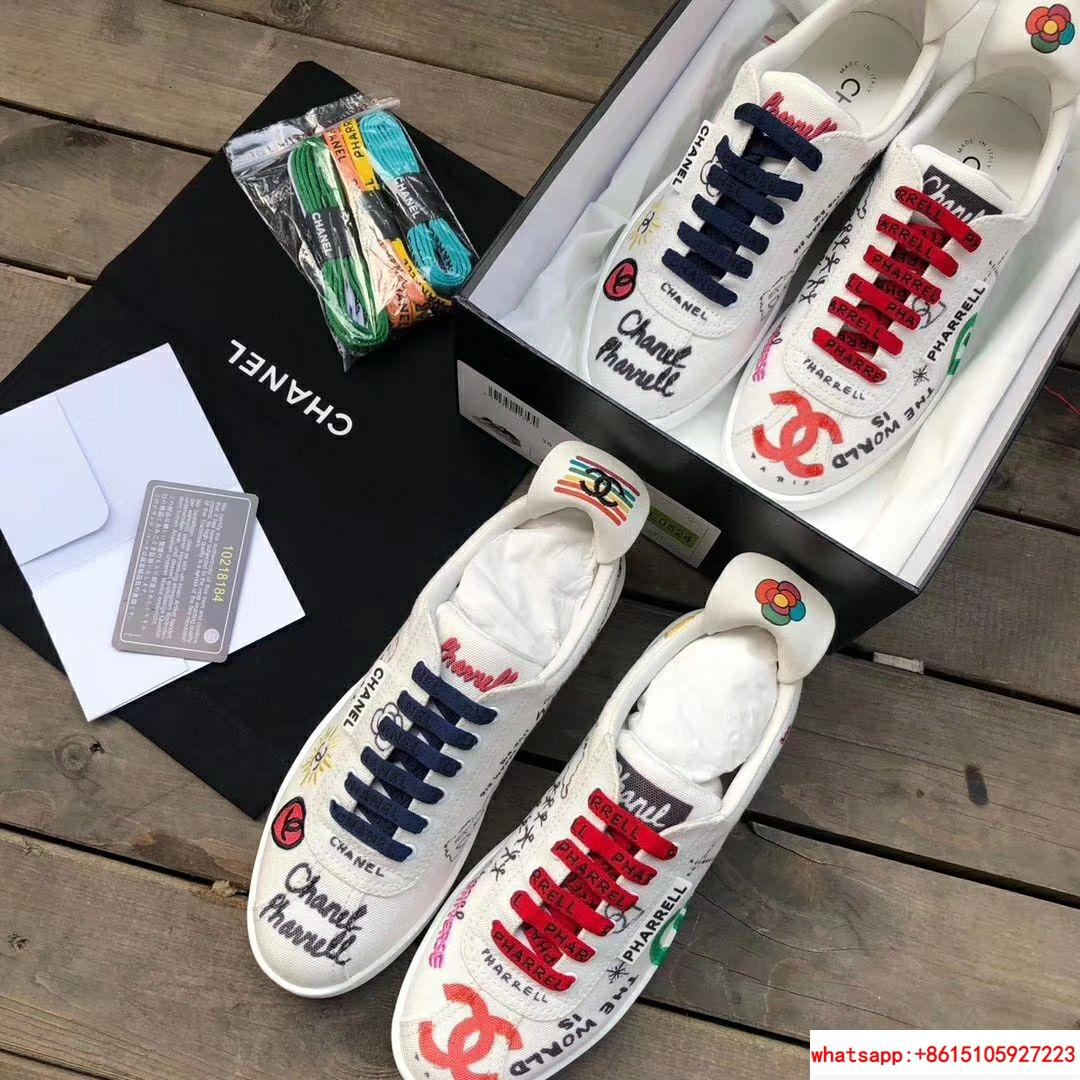 Pharrell Williams CC Logo Canvas Graffiti Low top  Sneakers Capsule Collection  9