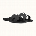 Oran sandal in suede goatskin with