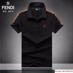 hotsale %100 cotton fendi polo fendi tshirt with free shipping
