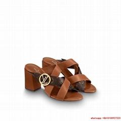 louis vuitton horizon mule iconic Monogram canvas lv sandal  Cognac Brown 1A5BZO