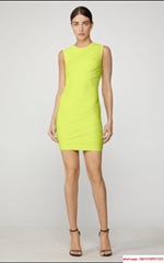 New herve leger TULLE BANDAGE RUCHED MINI DRESS  NEON YELLOW herve leger dress