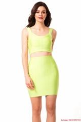 Newest herve leger dress HL dress neon yellow