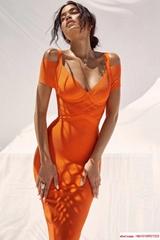 herve leger dress hl dress orange color perfect condition