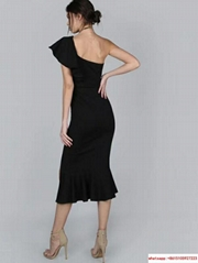 Herve Leger  dress HL dress black color long sexy dress