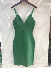 herve leger DEEP V FLARED DRESS  herve leger sexy dress