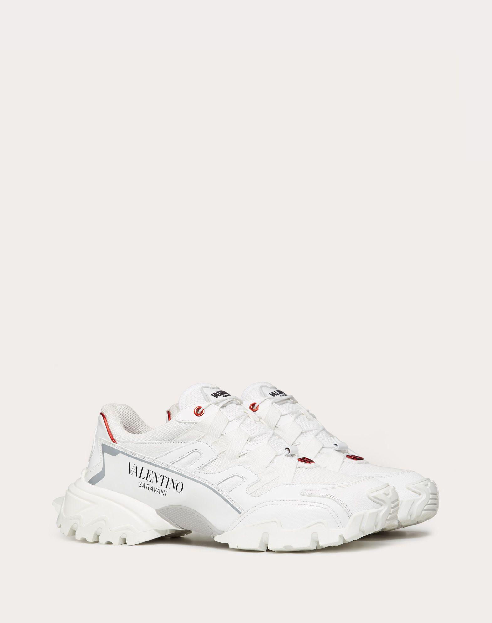 valentino climbers sneakers in fabric and leather valentino sneaker  5