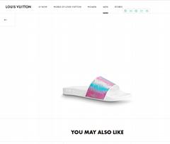 louis vuitton waterfront mule rose color lv slide sandals 1A5I4O 38-45